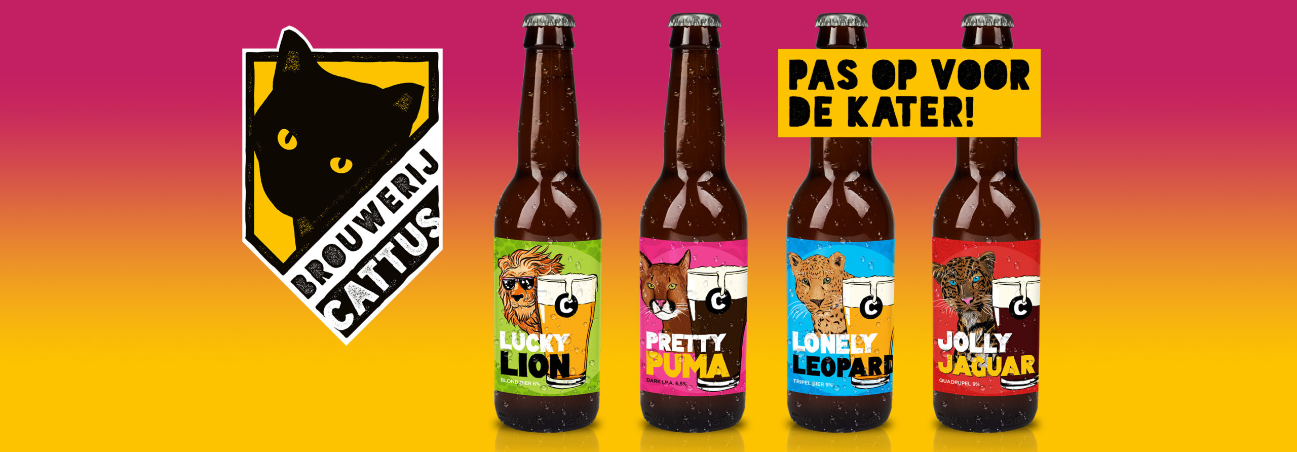 Brouwerij Cattus - Huisstijl en etiketten